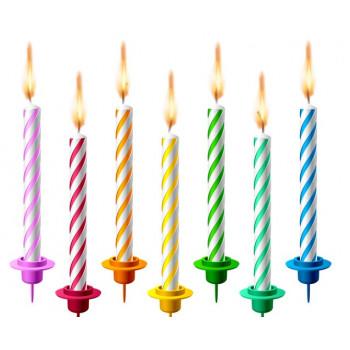 Świeczki urodzinowe zestaw 24 szt