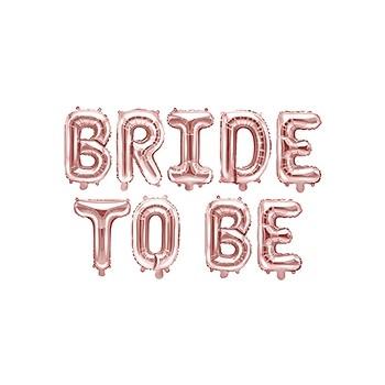 Balon foliowy metalizowany różowe złoto Bride to be 340x35cm