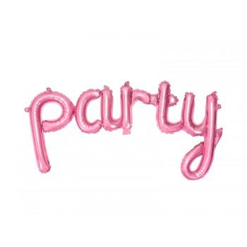 Balon foliowy pastelowy różowy Party 80x40cm