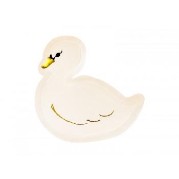 Talerzyki 6szt Łabędzie Lovely Swan 23,5x22,5cm