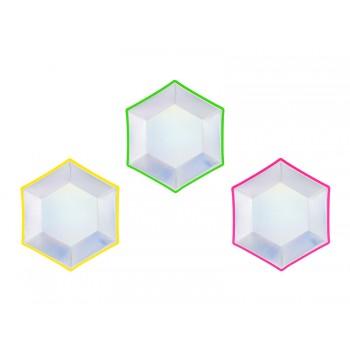 Talerzyki 6szt holograficzny mix 20 cm