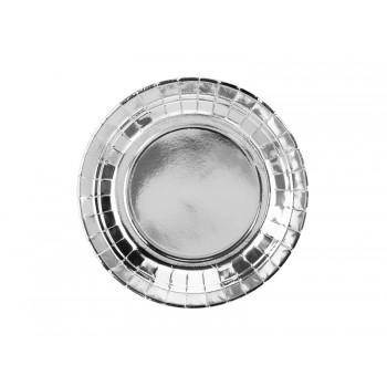 Talerzyki 6szt srebrny 18cm