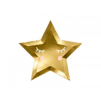 Talerzyki 6szt Gwiazda - Little Star 27cm