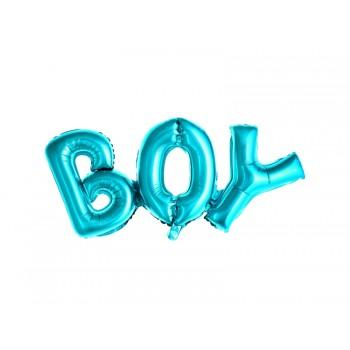 Balon foliowy metalizowany niebieski Boy 67x29cm