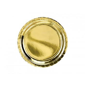 Talerzyki 6szt złoty 23cm