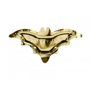 Talerzyki Nietoperz 6szt złoty 37,5x18,5cm
