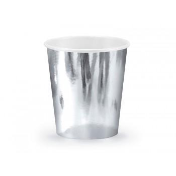 Kubeczki srebrny 6szt - 180ml