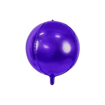 Balon foliowy metalizowany fioletowy Kula 40cm