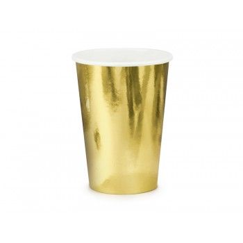 Kubeczki 6szt złoty 220ml