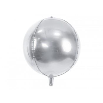 Balon foliowy metalizowany srebrny Kula 40cm