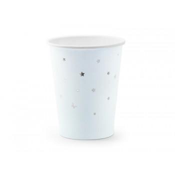 Kubeczki Gwiazdki 6szt jasny niebieski, 260ml