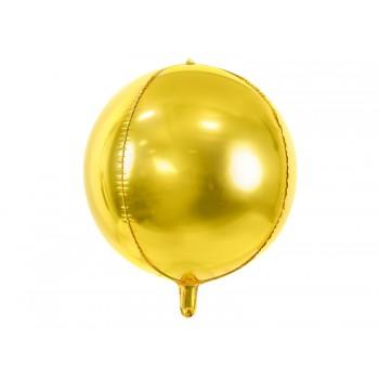 Balon foliowy metalizowany złoty Kula 40cm
