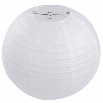 Lampion papierowy 35cm biały