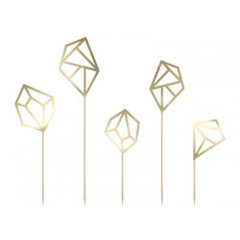 Toppery Kryształy 5szt - 12,5-24,5cm