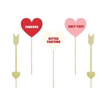 Toppery Sweet Love - Serca i strzałki - 5szt