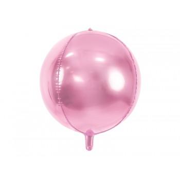 Balon foliowy metalizowany jasny różowy Kula 40cm