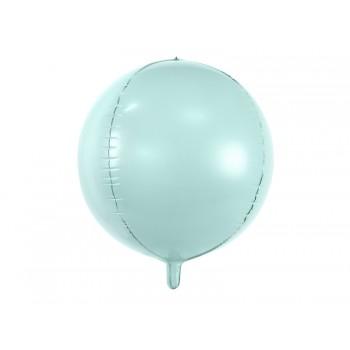 Balon foliowy metalizowany miętowy Kula 40cm