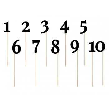 Numery na stół czarny 24-26cm