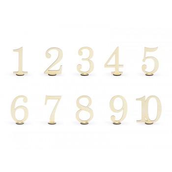Drewniane numery na stół 10,5cm