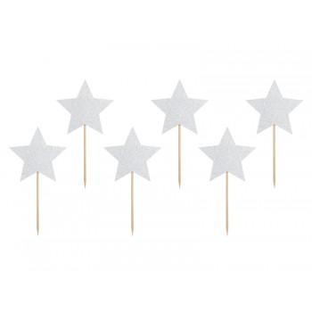 Gwiazdki 6szt do muffinek - Jednorożec