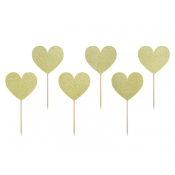 Serca do muffinek 6szt - Sweet love