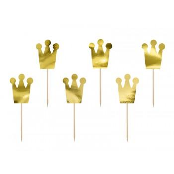 Princess - Korony 6szt dekoracje do muffinek