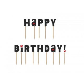 Karteczki na piku Happy Birthday! 14szt - 9,2cm