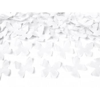 Tuba z motylkami 40cm biały