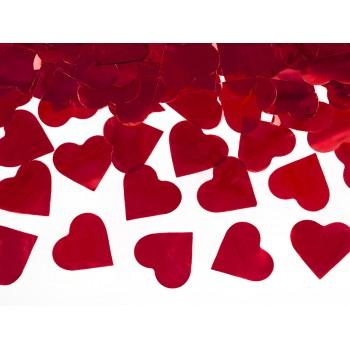 Tuba z sercami czerwony - 60cm
