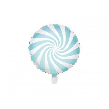 Balon foliowy pastelowy jasny niebieski Cukierek 45cm