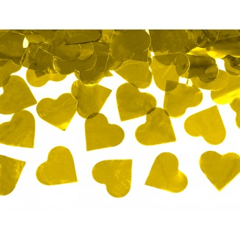 Tuba z sercami złoty - 60cm