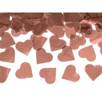 Tuba z sercami różowe złoto - 60cm
