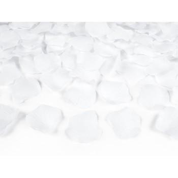 Tuba z płatkami róż biały - 40cm