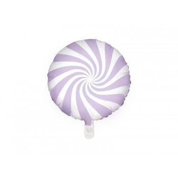 Balon foliowy pastelowy jasny liliowy Cukierek 45cm