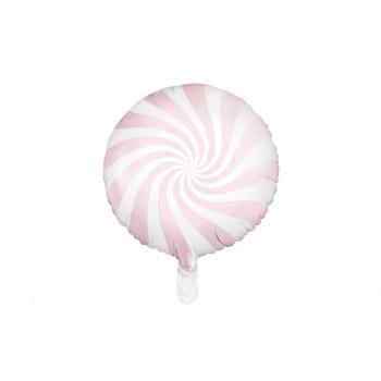 Balon foliowy pastelowy jasny różowy Cukierek 45cm