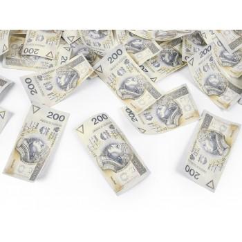 Tuba z banknotami 200 PLN - 80cm