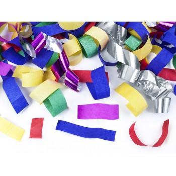 Tuba z konfetti kolorowym - 80cm