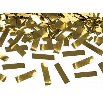 Tuba z konfetti, złoty metaliczny 40cm