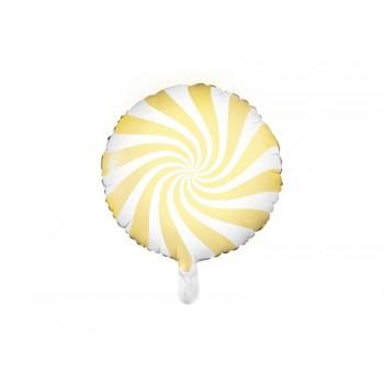 Balon foliowy pastelowy jasny żółty Cukierek 45cm