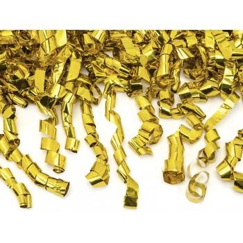 Tuba z serpentynami, złoty 60cm