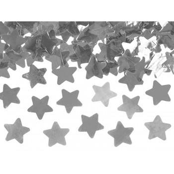 Tuba z gwiazdkami, srebrny 40cm