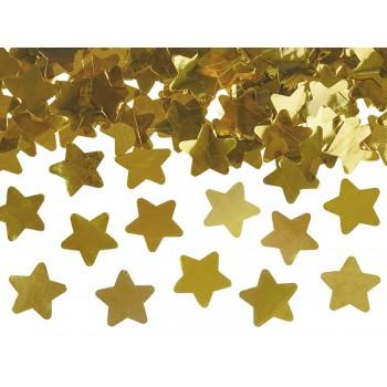 Tuba z gwiazdkami, złoty 60cm