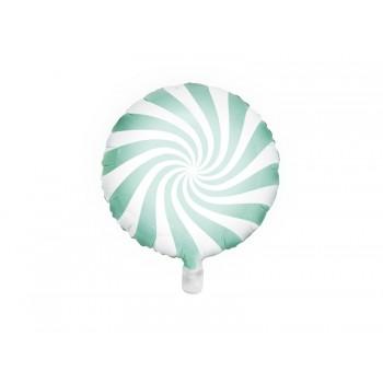 Balon foliowy pastelowy miętowy Cukierek 45cm