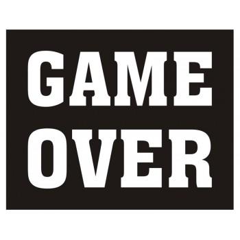 Naklejki na buty Game over - 2szt