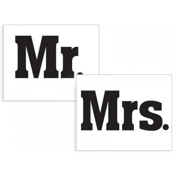 Naklejki na buty Mr./Mrs. - 2szt