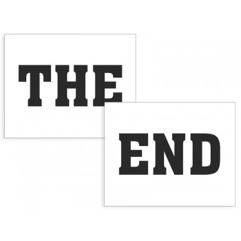 Naklejki na buty The/end - 2szt