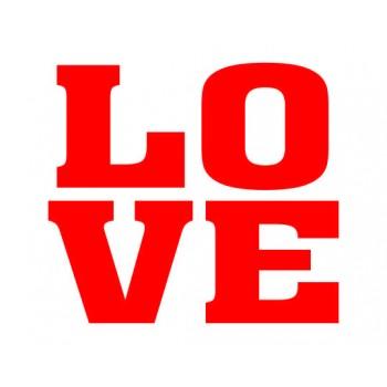 Naklejki na buty Love - 2szt