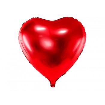 Balon foliowy metalizowany czerwony Serce 61cm