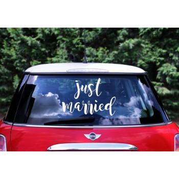 Just married - Naklejka ślubna na samochód