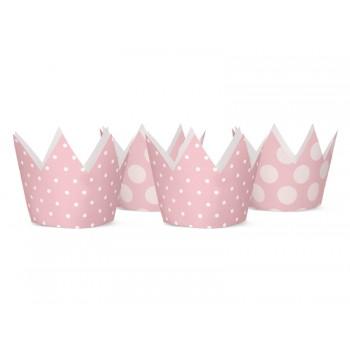 Korony Party 4szt jasny różowy, 10cm